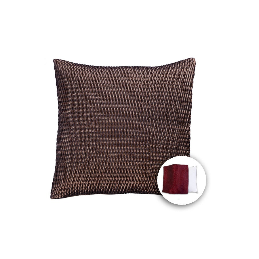 allen + roth 18-in W x 18-in L Bronze Square Indoor Decorative Pillow Cover
