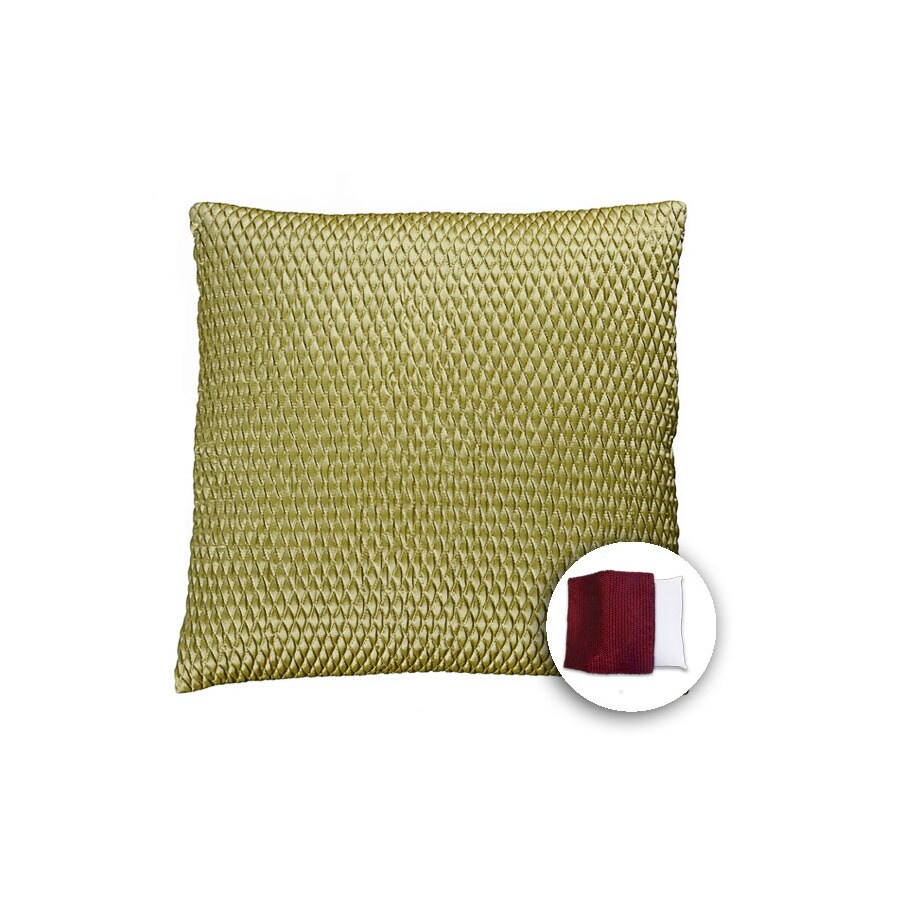allen + roth 18-in W x 18-in L Olive Square Indoor Decorative Pillow Cover