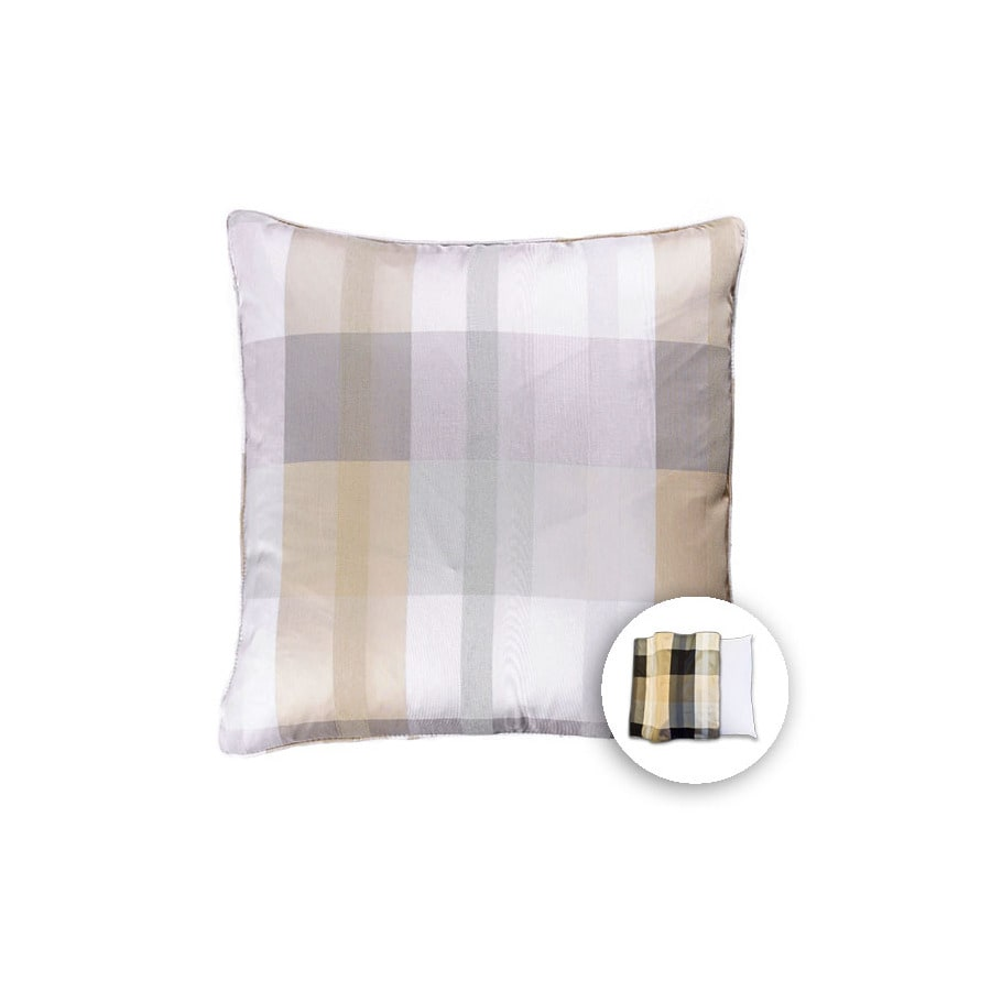 allen + roth 18-in W x 18-in L Linen Ivory Square Indoor Decorative Pillow Cover