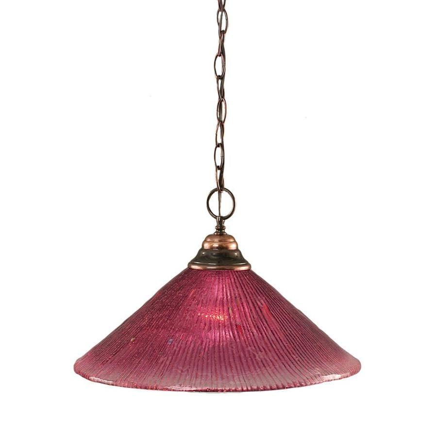 Divina 16-in Black Copper Mini Marbleized Glass Pendant