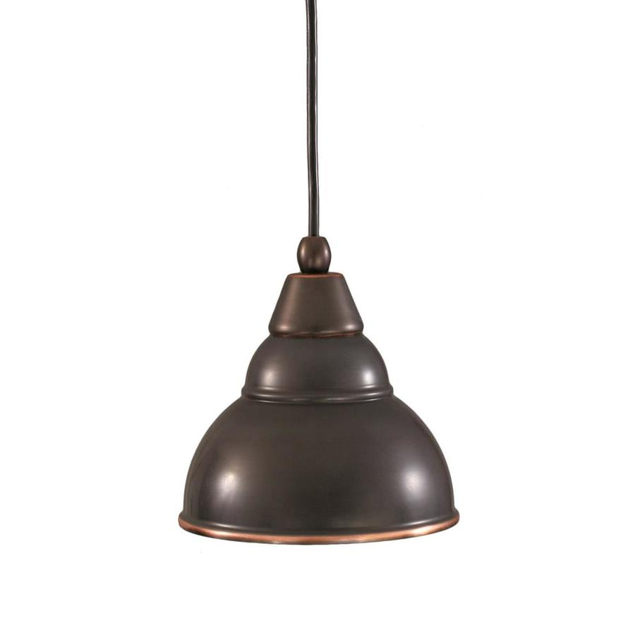 Divina 6-in Black Copper Mini Pendant