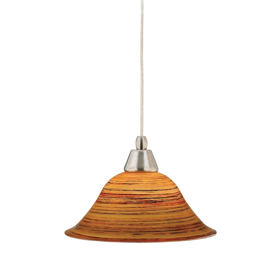 Brooster 10-in Brushed Nickel Mini Tinted Glass Pendant