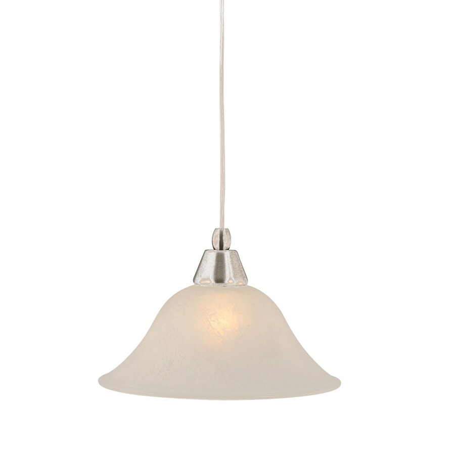 Brooster 10-in Brushed Nickel Mini Marbleized Glass Pendant