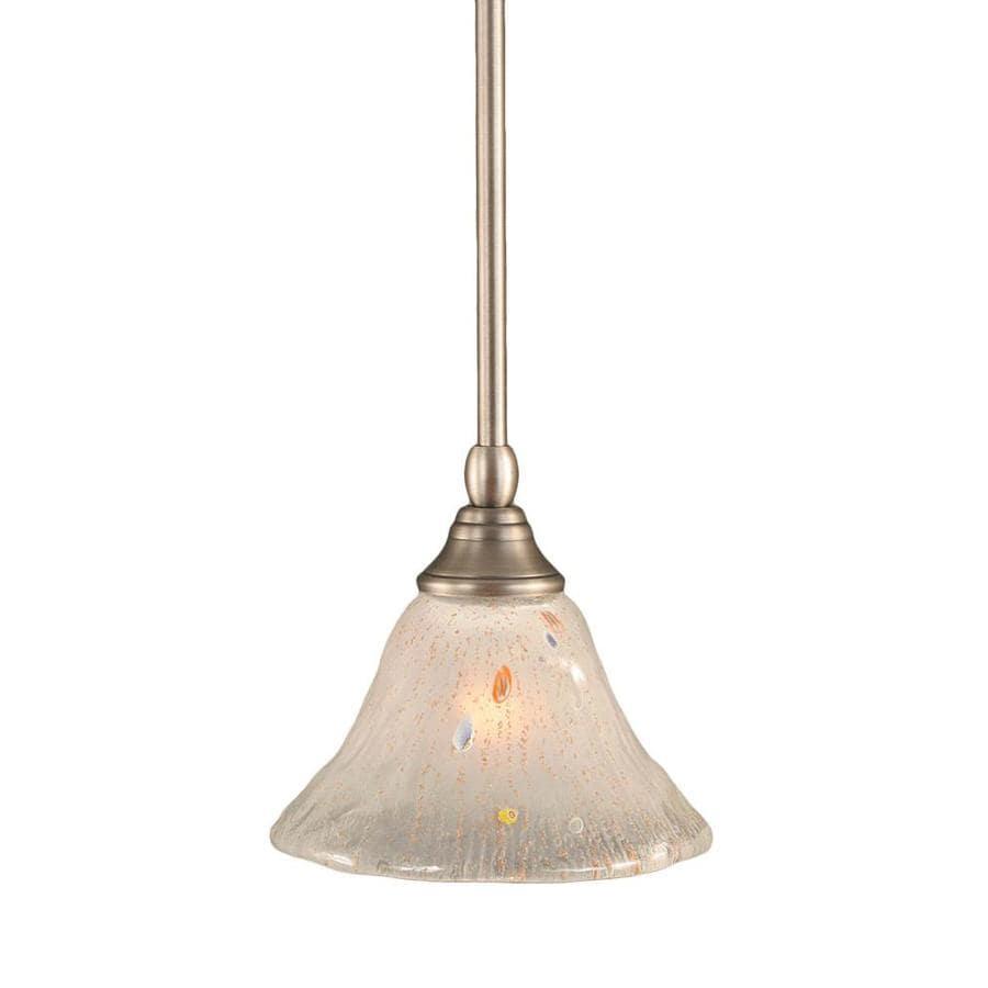 Divina 7-in Brushed Nickel Mini Marbleized Glass Pendant