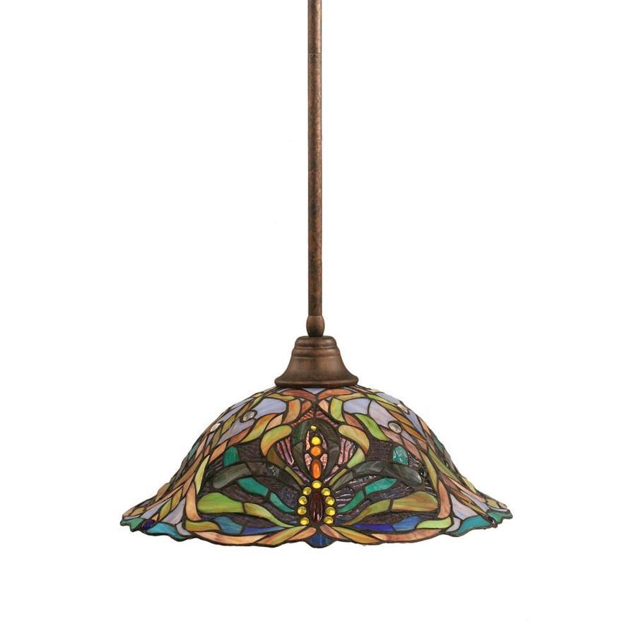 Divina 16-in Bronze Mini Stained Glass Pendant