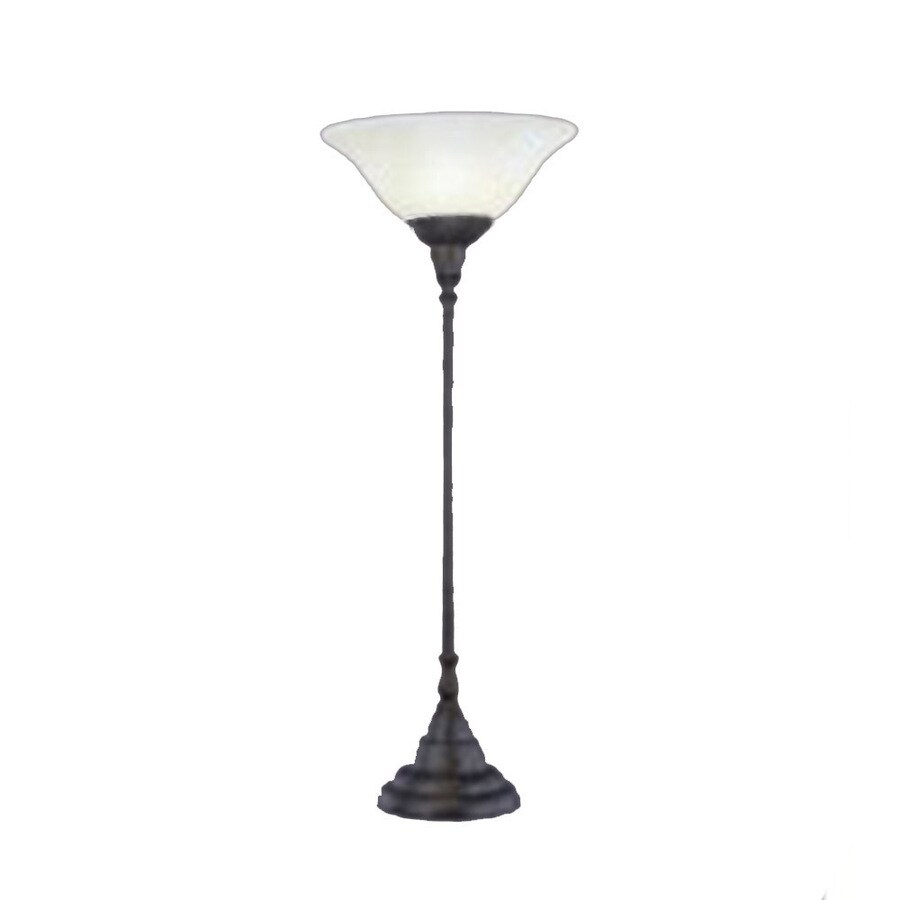 34.5-in Bronze Touch Indoor Table Lamp with Glass Shade