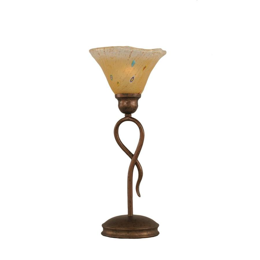 Divina 13.25-in 3-Way Bronze Indoor Table Lamp with Crystal Shade