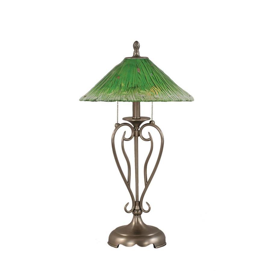 Divina 27-in 3-Way Nickel Indoor Table Lamp with Crystal Shade