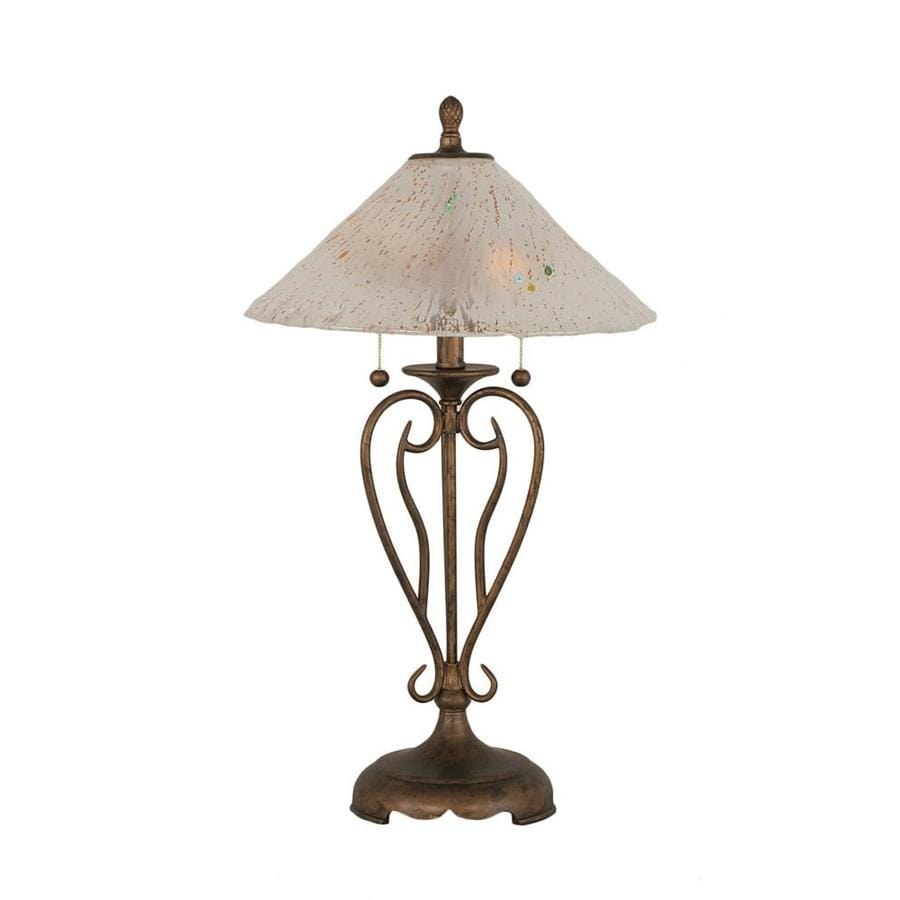 shop divina 27 in 3 way bronze indoor table lamp with crystal shade at. Black Bedroom Furniture Sets. Home Design Ideas