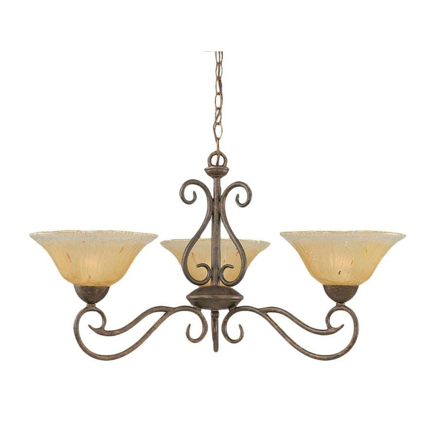 Divina 31-in 3-Light Bronze Tinted Glass Candle Chandelier