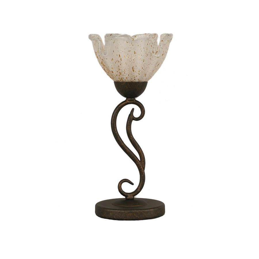Divina 17-in 3-Way Bronze Indoor Table Lamp with Glass Shade