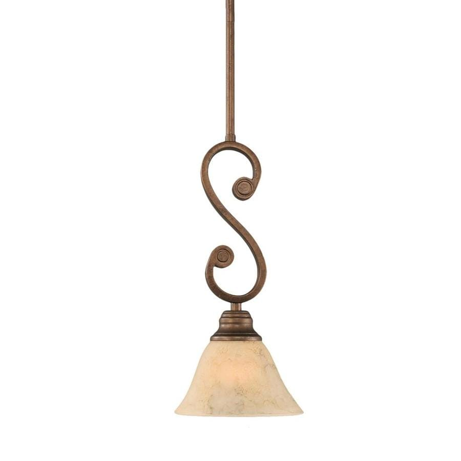 Divina 7-in Bronze Mini Tinted Glass Pendant