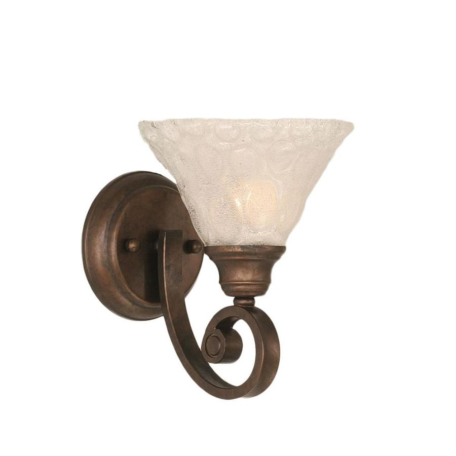 Divina 7-in W 1-Light Bronze Candle Wall Sconce