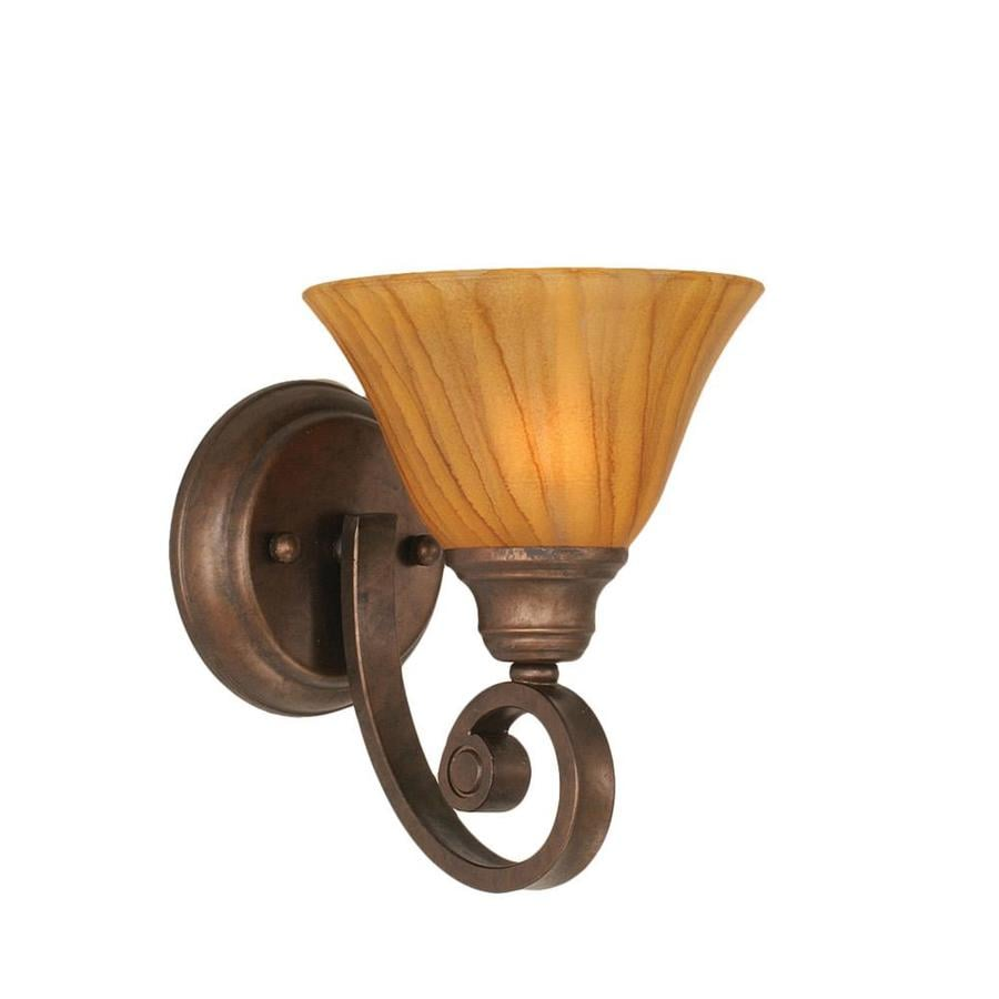 Wall Sconces Hardwired : Shop Divina 8.75-in W 1-Light Bronze Candle Hardwired Wall Sconce at Lowes.com