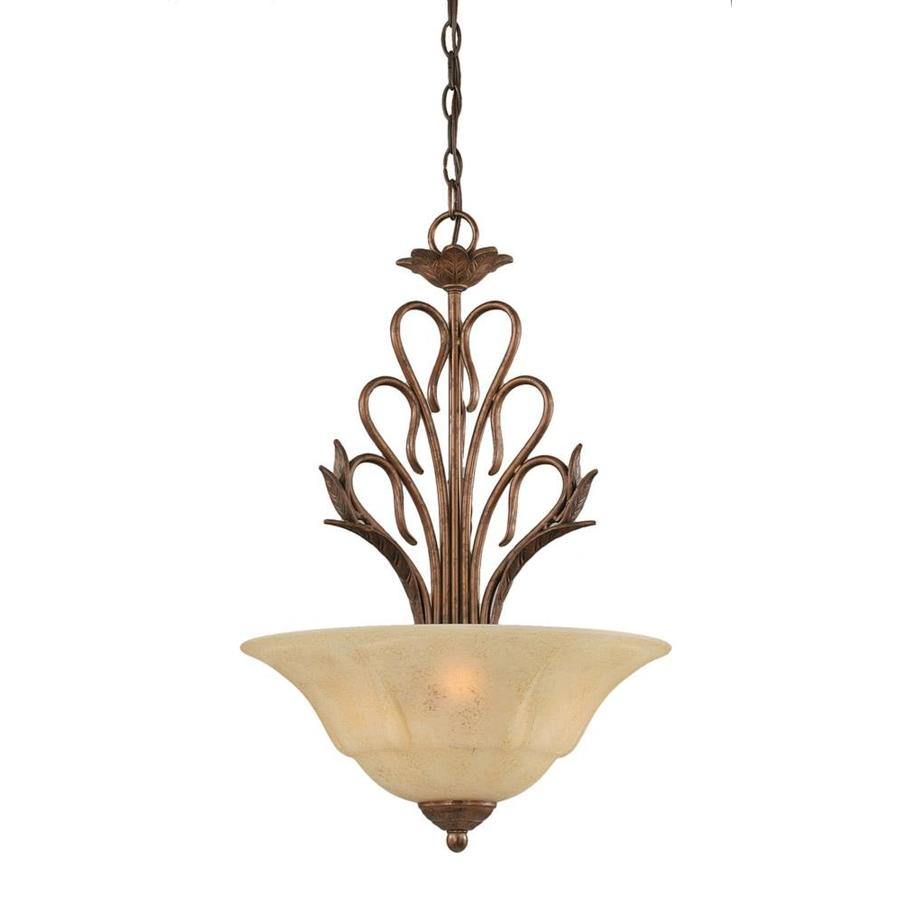 Divina 16-in Bronze Single Tinted Glass Pendant