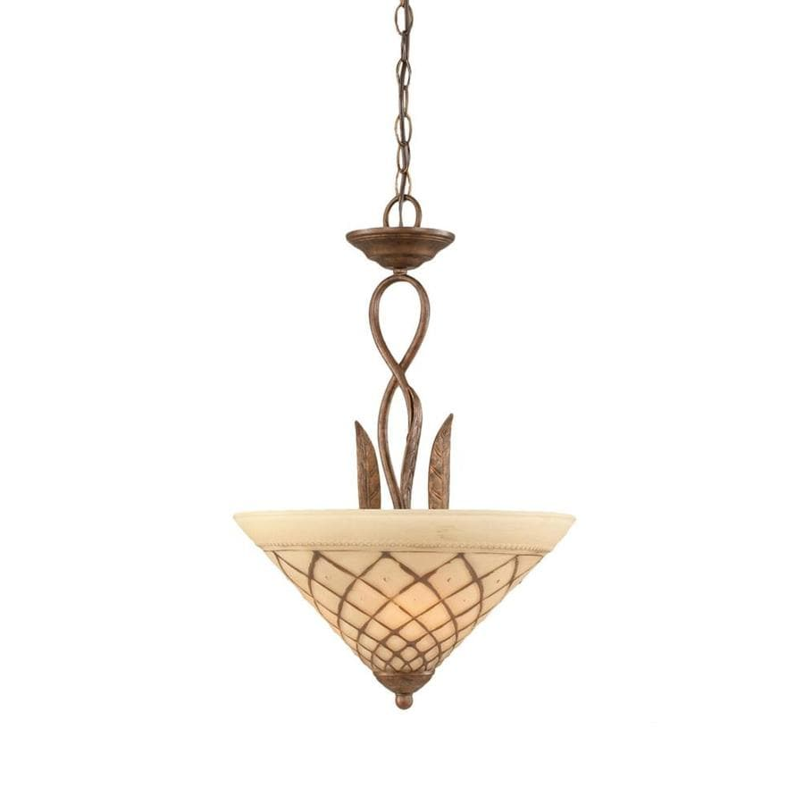 Divina 16-in Bronze Single Stained Glass Pendant