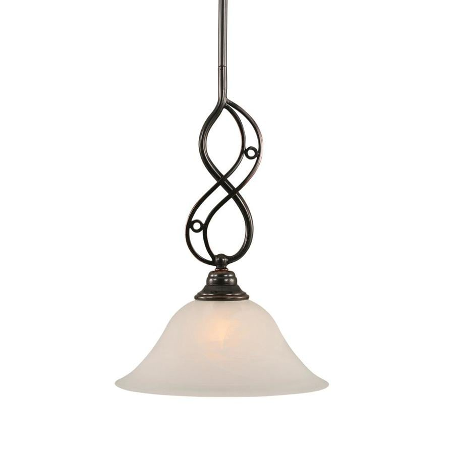 Brooster 10-in Black Copper Mini N/A Pendant
