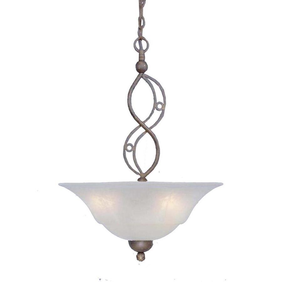 Divina 20-in Bronze Single Bell Pendant