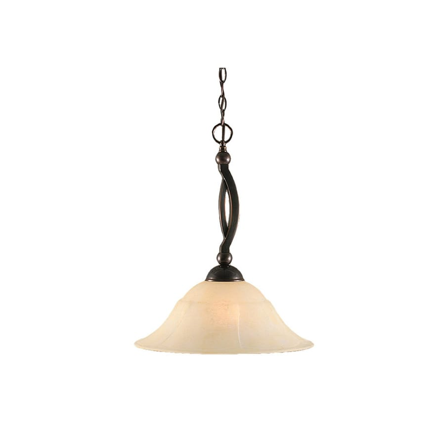 Divina 16-in Black Copper Single Tinted Glass Bell Pendant