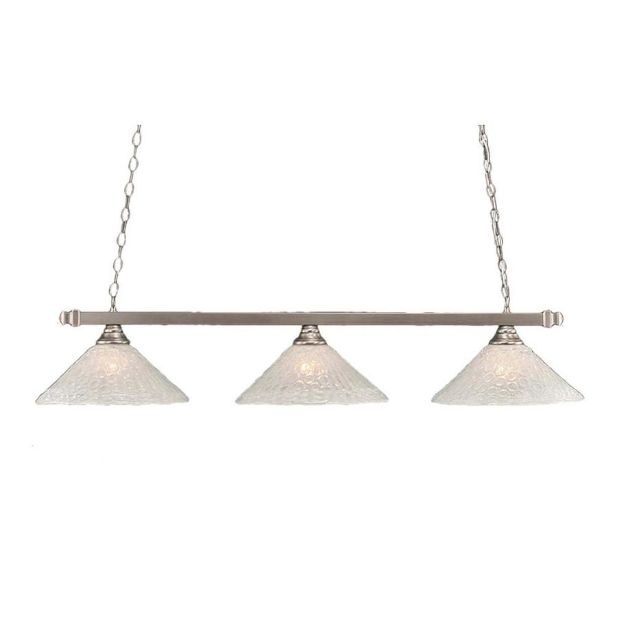 shop divina 16 in w 3 light brushed nickel kitchen island light with