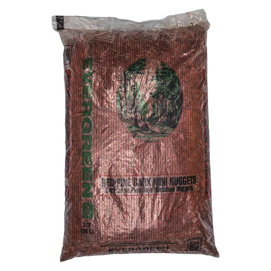 Evergreen 2-cu ft Red Nuggets Pine Bark Mulch