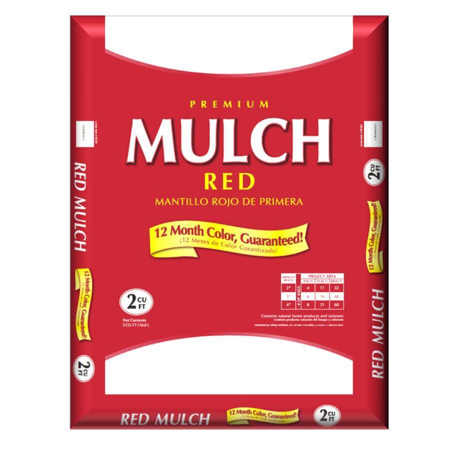 2 Cu. Ft. Red Premium Mulch