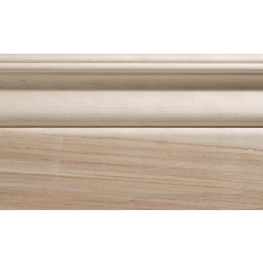 4.25-in x 8-ft Interior White Hardwood Baseboard