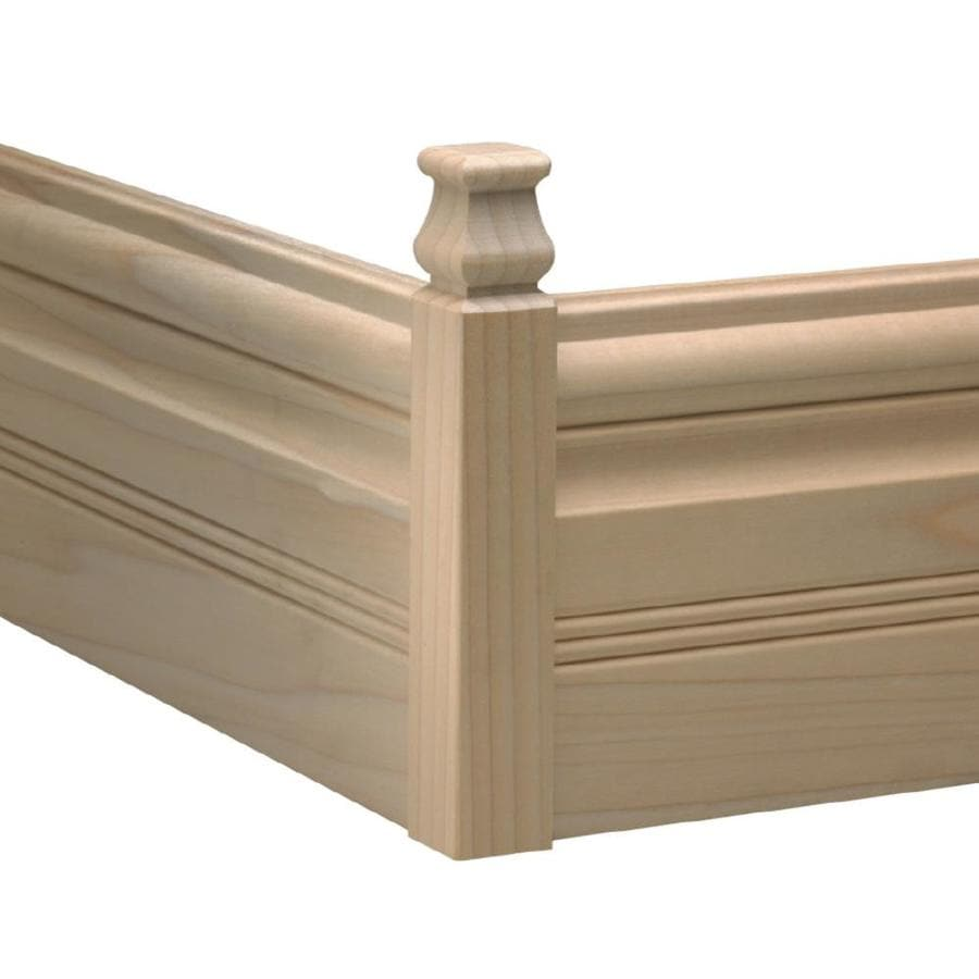 EverTrue 1.1165-in x 6.75-in Interior White Hardwood Outside Corner Baseboard Moulding Block