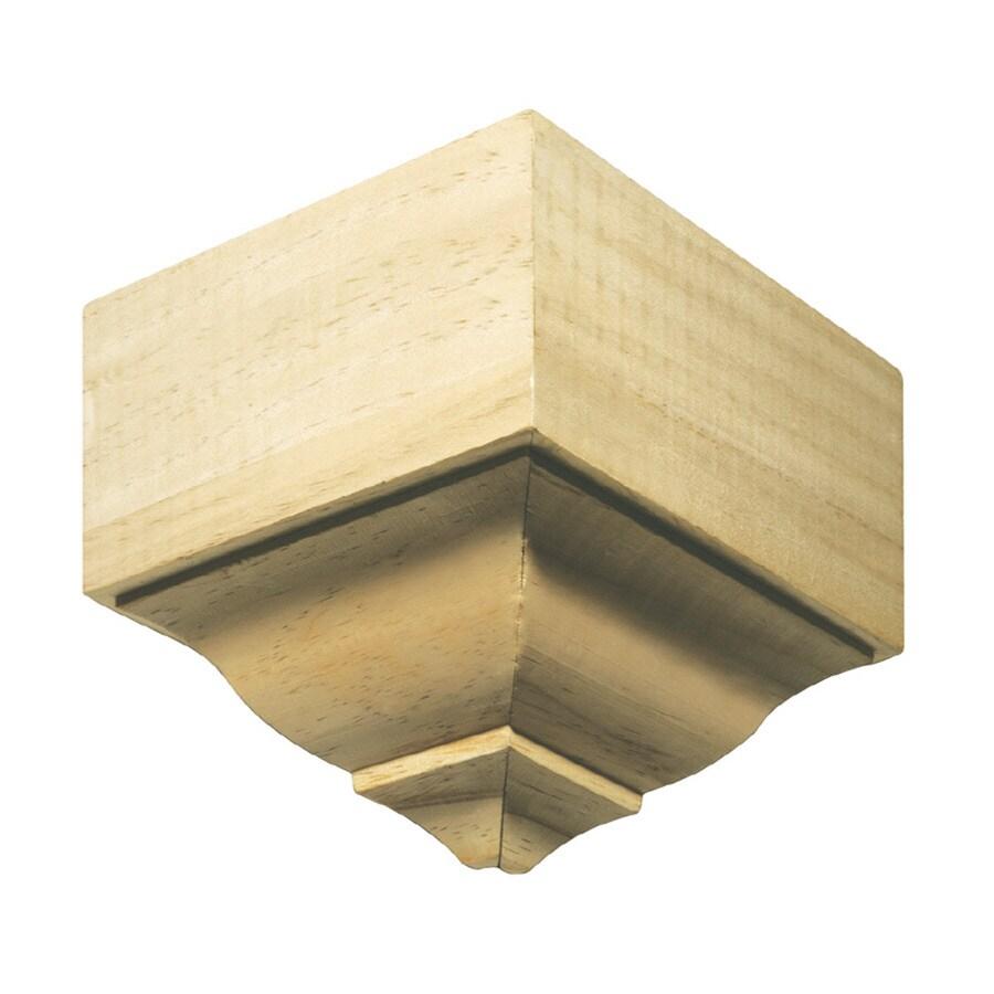 EverTrue 6.25-in x 7.75-in x 5.625-in Unfinished Pine Outside Corner Crown Moulding Block