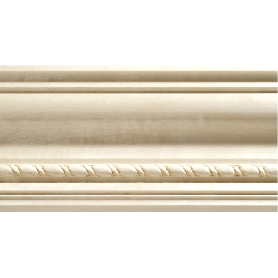 Shop 3 75 In X 8 Ft White Hardwood Crown Moulding At Lowes Com