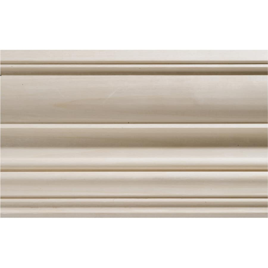 4.5-in x 8-ft White Hardwood Crown Moulding