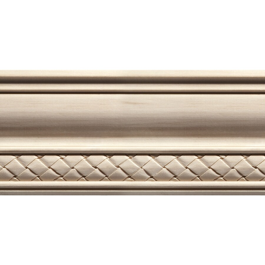 EverTrue 4-in x 12-ft White Hardwood Crown Moulding