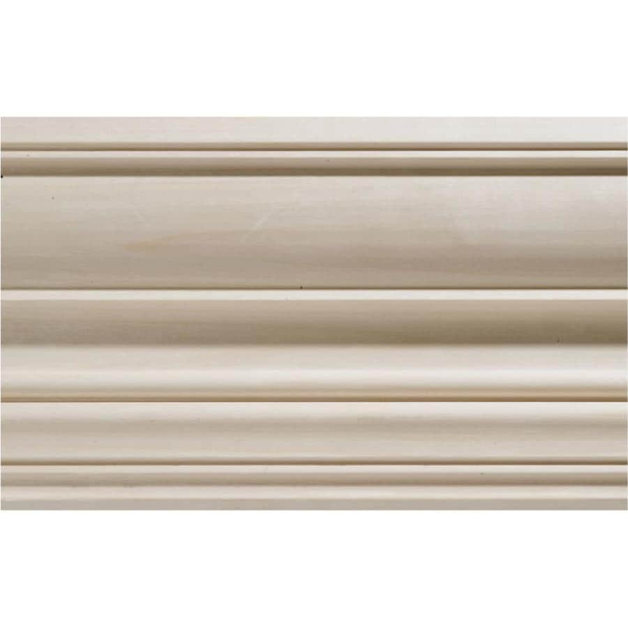 EverTrue 4.5-in x 12-ft White Hardwood Crown Moulding