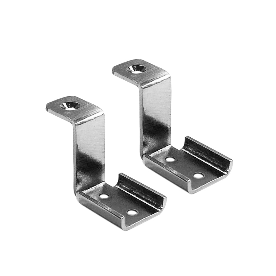 allen + roth 2-Pack Nickel Ventilated Shelf Corner Brackets