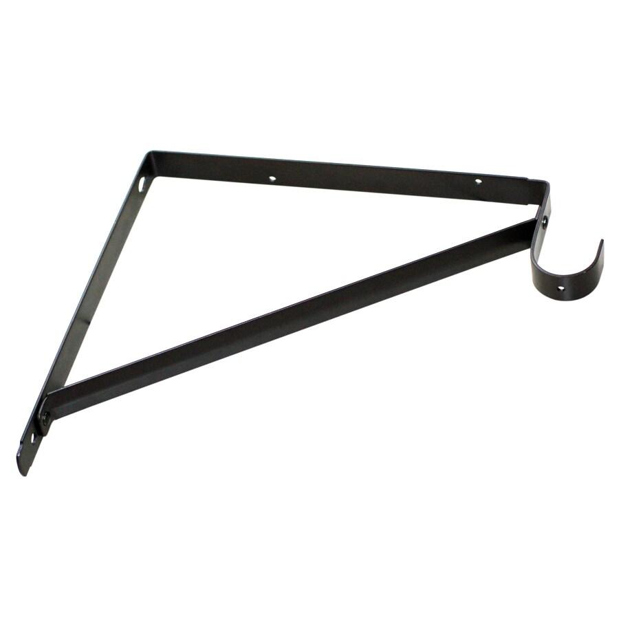 Style Selections Steel 10.71-in x 1-in Bronze Shelf Bracket