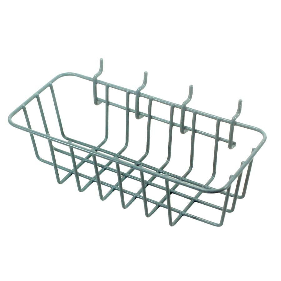 Blue Hawk 9.13-in W x 3.46-in H Gray Metal Garage Storage Basket