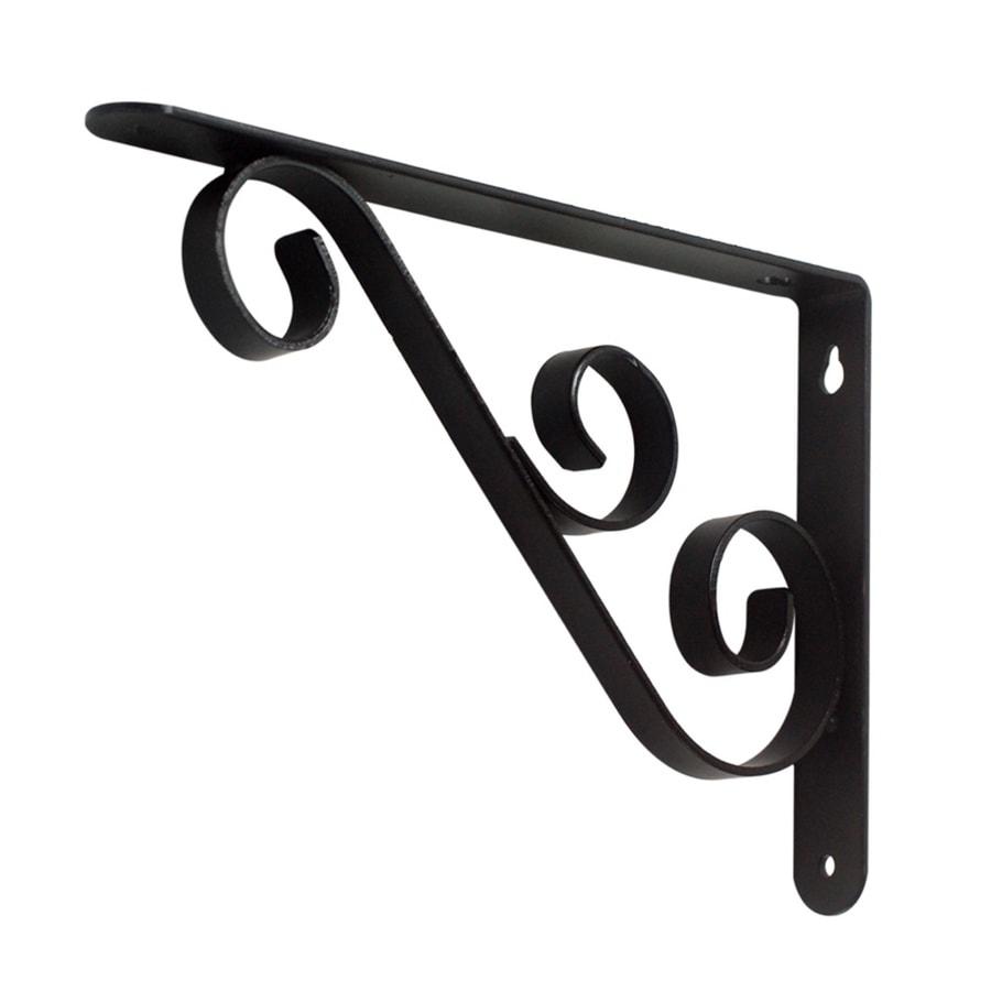 Style Selections Steel 0.98-in W x 6.5-in L x 9.06-in D Dark Bronze Decorative Shelf Bracket