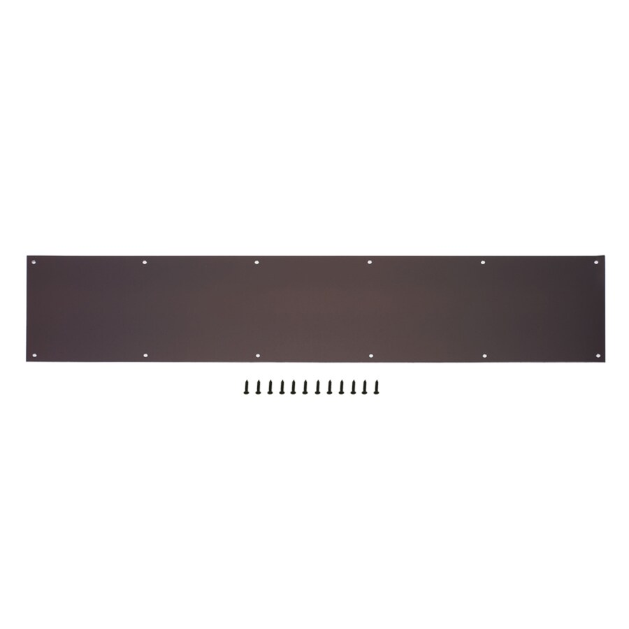 Gatehouse 7.99-in x 33.98-in Oil-Rubbed Bronze Entry Door Kick Plate
