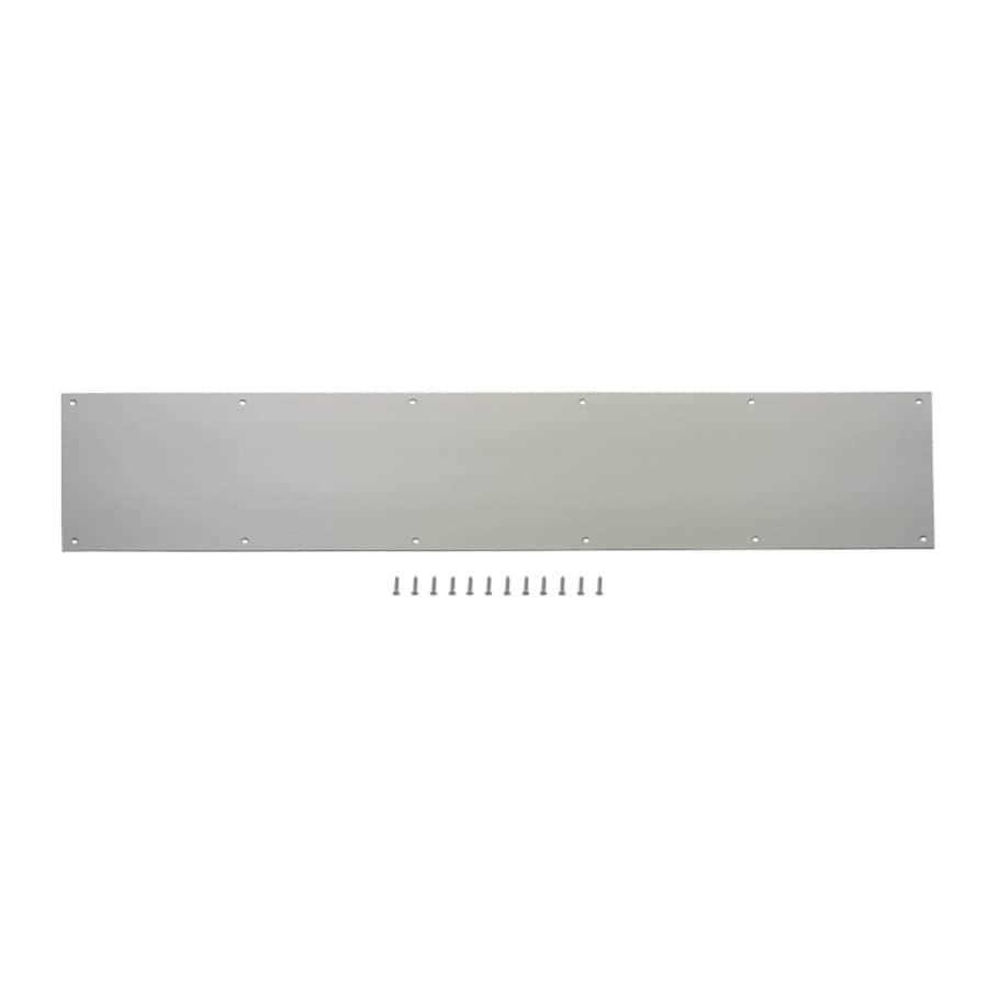 Gatehouse 7.99-in x 33.98-in Satin Nickel Entry Door Kick Plate