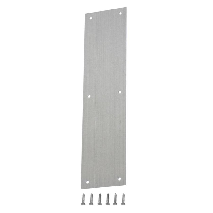 Gatehouse 3.48-in x 14.96-in Silver Entry Door Push Plate