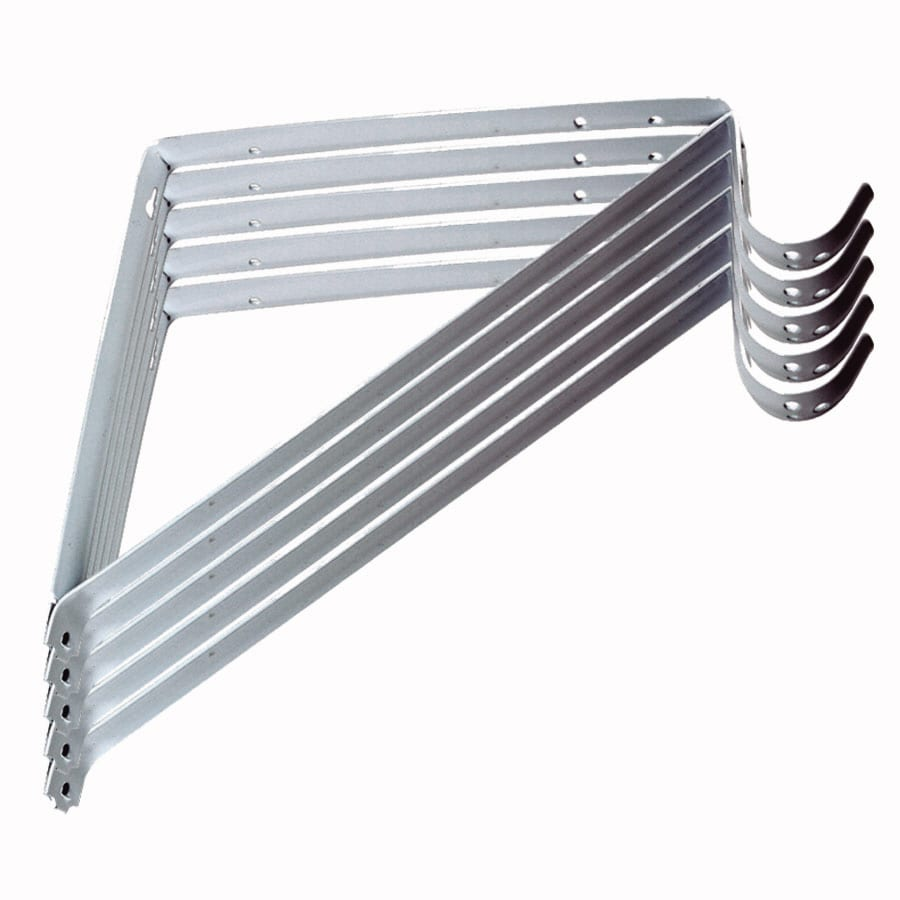 Real Organized Steel 12.8-in x 0.94-in White Shelf Bracket