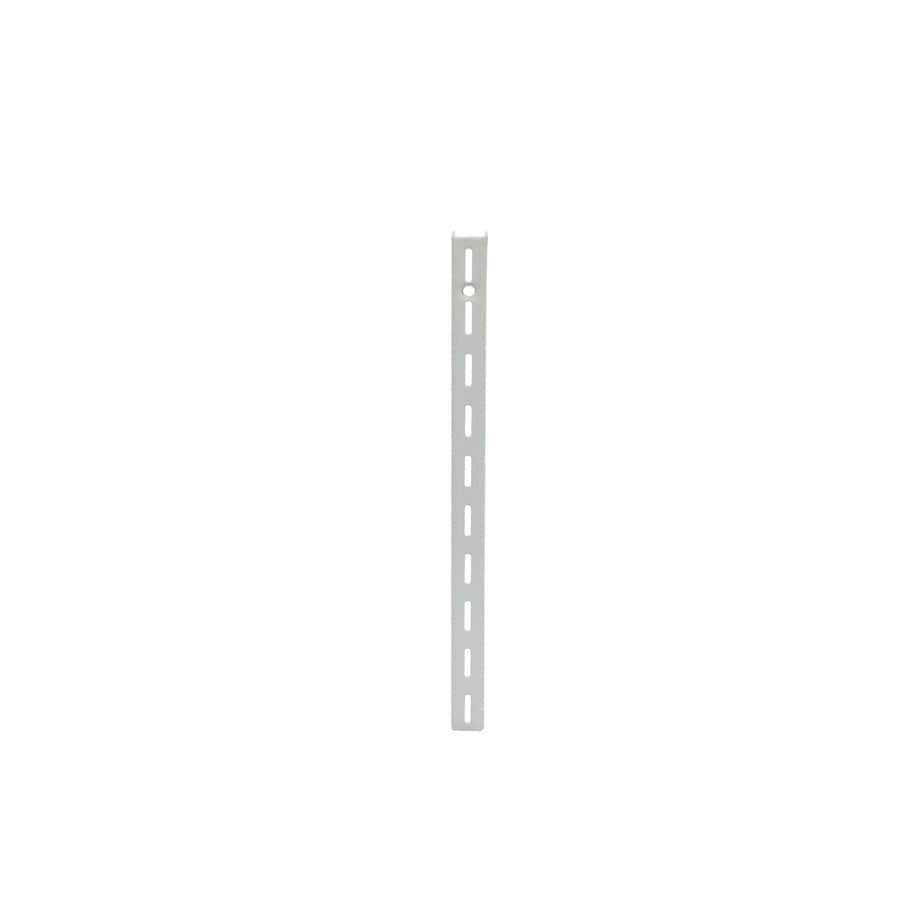 Style Selections 0.625-in W x 72-in H x 0.4375-in D Steel Wall Mounted Shelving