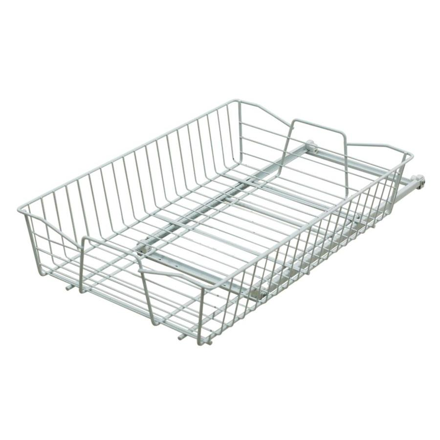 Style Selections 13.78-in W x 5.51-in H Metal 1-Tier Pull Out Cabinet Basket