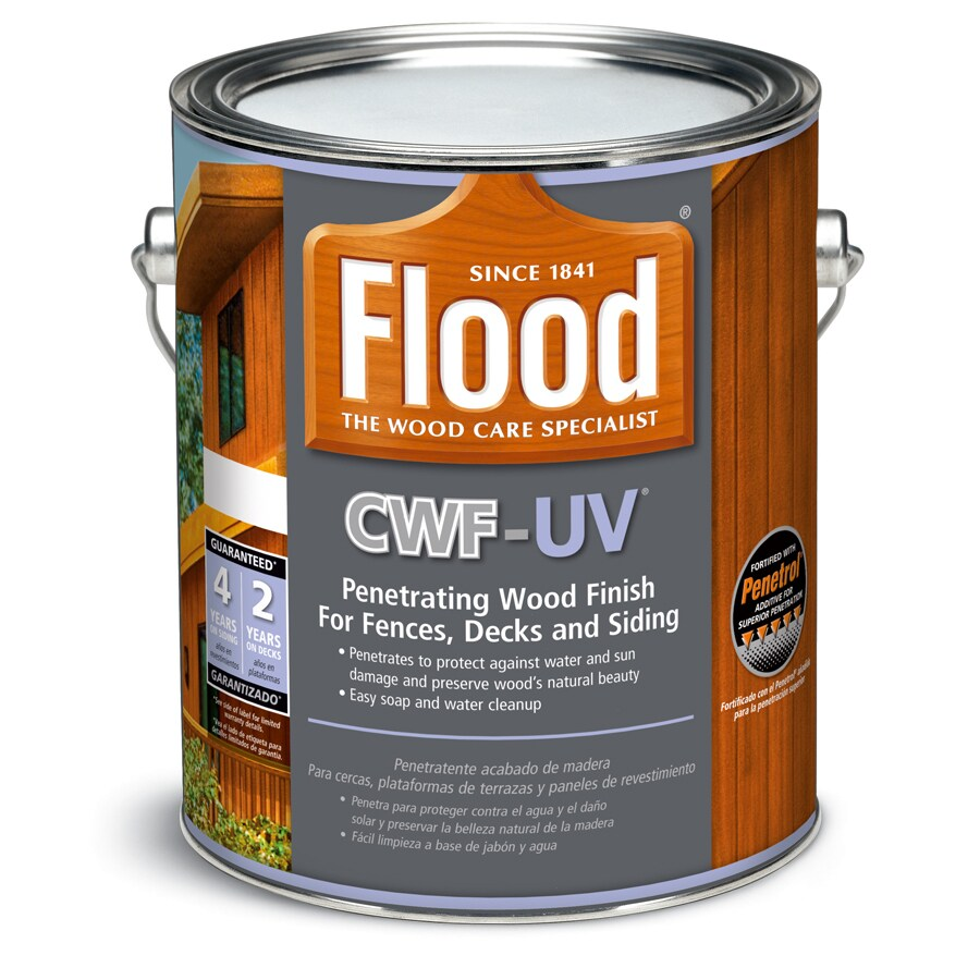 Flood CWF-UV Clear Clear Exterior Stain (Actual Net Contents: 128-fl oz)
