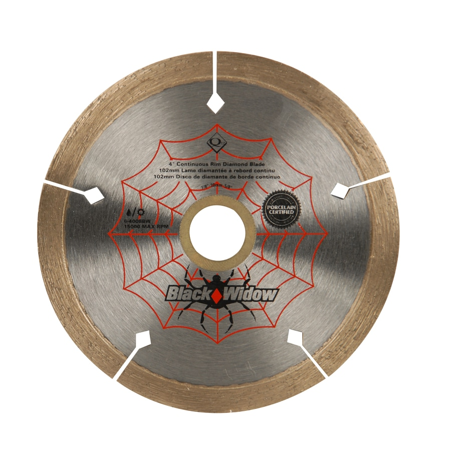 Black Widow 4-in Wet or Dry Continuous Diamond Circular Saw Blade