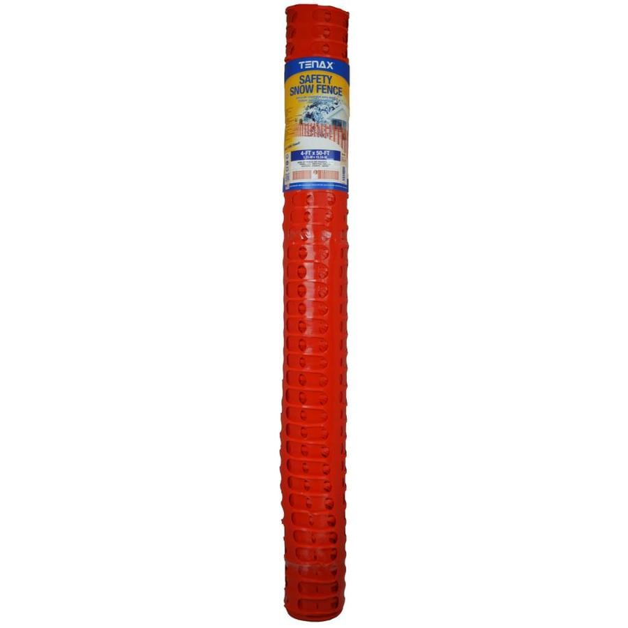 Tenax Safety Snow Orange HDPE Construction Fence Fabric (Common: 50-ft x 4-ft; Actual: 50-ft x 4-ft)