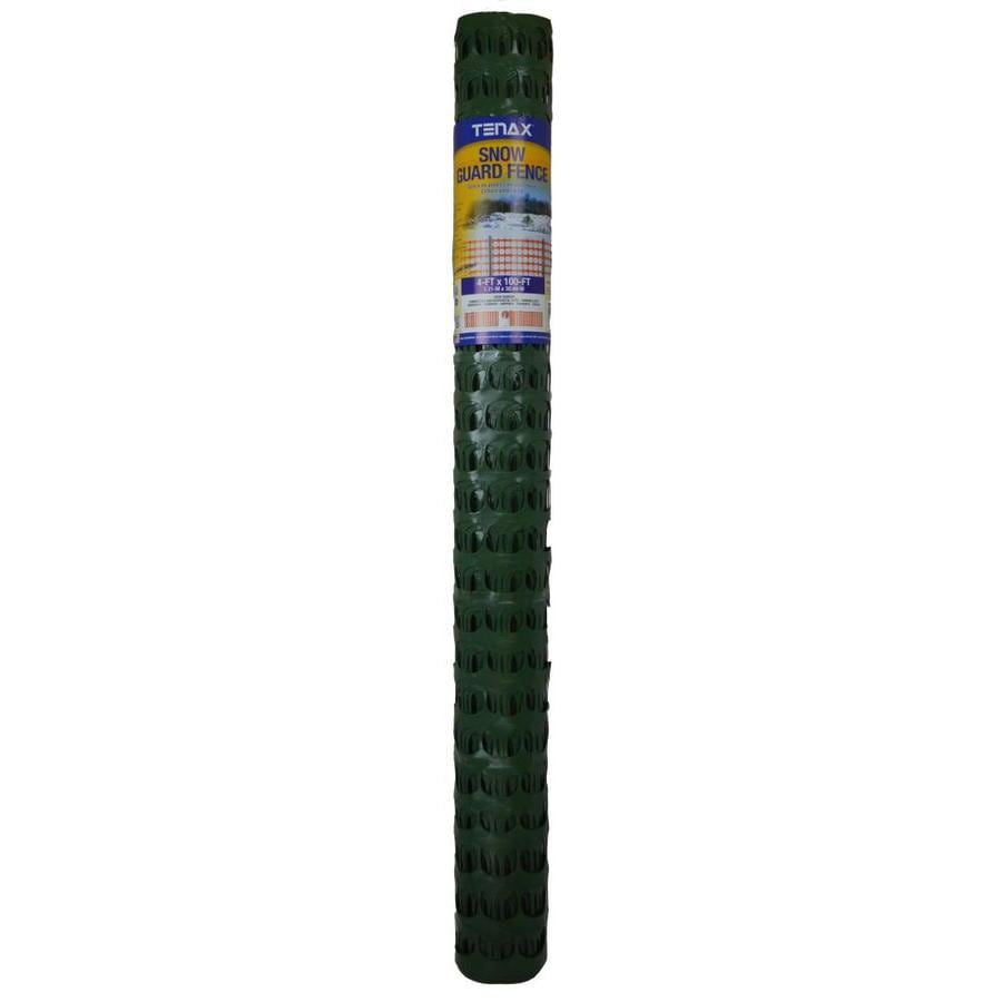 Tenax Snow Guard 100-ft x 48-in Green Sand/Snow Fence