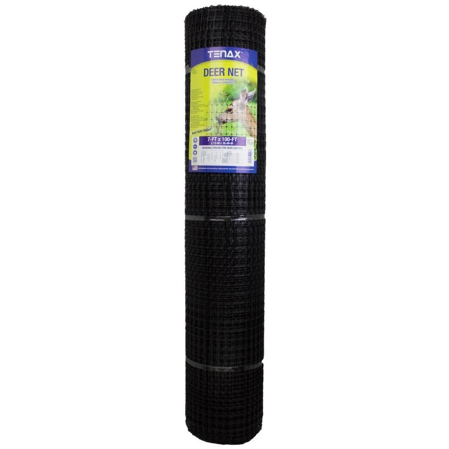 Blue Hawk Net Folded Black Polypropylene Extruded Mesh (Common: 100-ft x 7-ft; Actual: 100-ft x 7-ft)