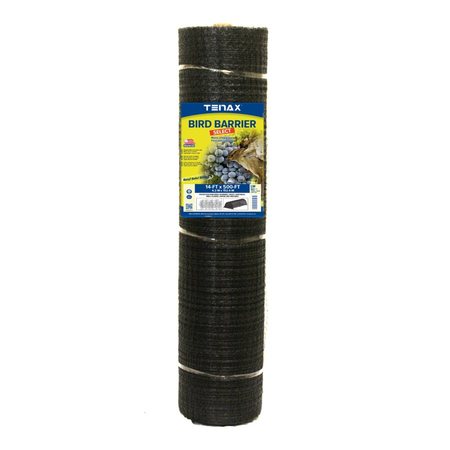 Tenax Ornex LM Black Polypropylene Extruded Mesh (Common: 500-ft x 14-ft; Actual: 500-ft x 14-ft)