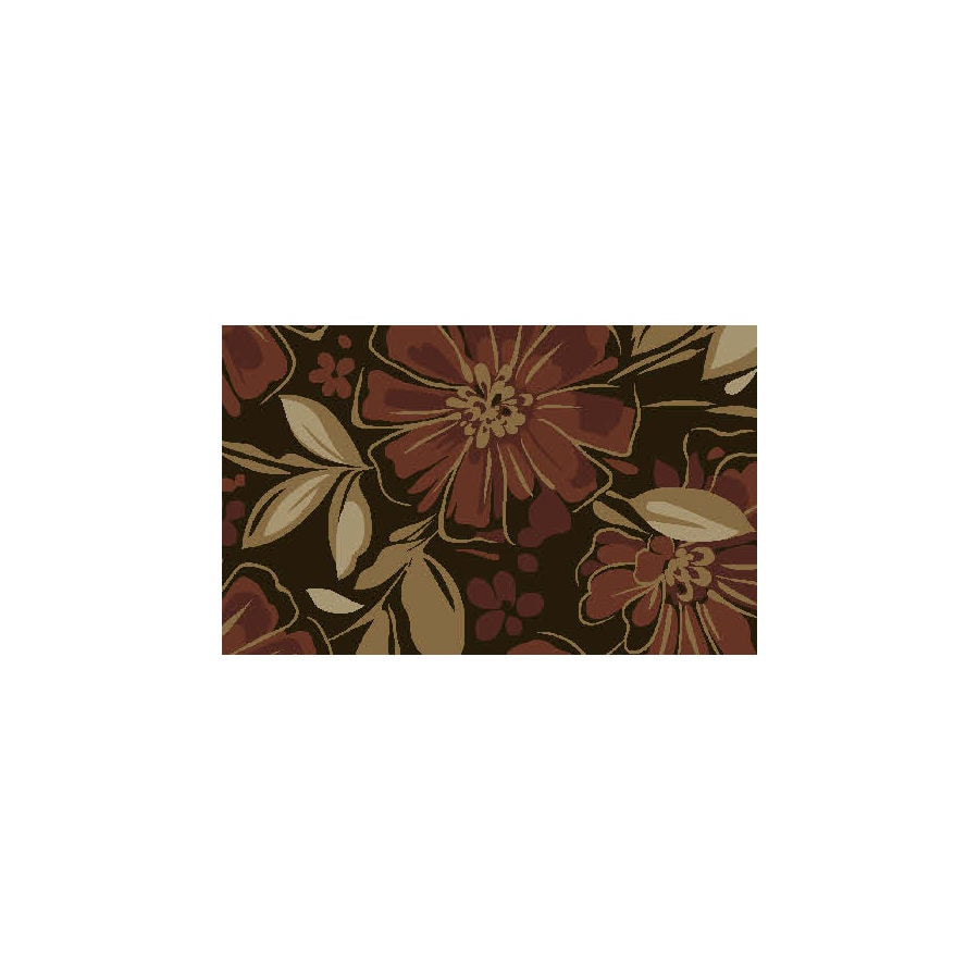 Style Selections Rectangular Indoor Tufted Throw Rug (Common: 2 x 4; Actual: 27-in W x 45-in L)